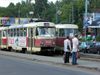 Russia - Udmurtia - Izhevsk: trams and pedestrians - photo by P.Artus