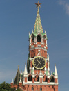 Russia - Moscow: Spasskaya Tower of Kremlin - photo by J.Kaman