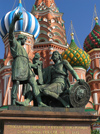 Russia - Moscow: Monument to Kuzma Minin and Dmitry Pozharsky at St Basil's Cathedral - Red Square - photo by J.Kaman