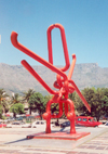 Cape Town, Western Cape, South Africa: 'The Knot' - monster paper-clip sculpture by Edoardo Villa - Civic Centre - photo by M.Torres