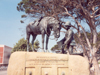 South Africa - Port Elizabeth / PLZ: honouring the horse - sculptor Joseph Whitehead - photo by M.Torres