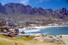 South Africa - Duiker Island: Camps Bay - exclusive, predominantly white, seaside suburb with vibrant cosmopolitan lifestyle - Table Mountain in background - photo by R.Eime