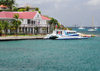 Gustavia, St. Barts / Saint-Barthélemy: Hôtel de la Collectivité and ferry Edge II, the boat to Saint-Martin - La Pointe - photo by M.Torres