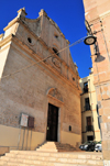 Cagliari, Sardinia / Sardegna / Sardigna: former synagogue, now the Basilica of the Holy Cross - Piazzetta Santa Croce, Santa Croce bastion - Order of Saints Maurice and Lazarus - Jewish quarter / Giudaria - Basilica di Santa Croce - quartiere Castello - photo by M.Torres