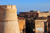 Cagliari, Sardinia / Sardegna / Sardigna: tower in the old Spanish Sperone bastion, now part of Bastione St. Remy - view from Terrazza Umberto I - quartiere Castello - photo by M.Torres