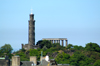 Scotland - Edinburgh: Calton Hill - Nelson's Monument tower and a replica of the Parthenon are visible - photo by C.McEachern
