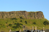 Scotland - Edinburgh: the cliff face of Salisbury Crags looks down on Edinburgh like a grand fortress - situated in Holyrood Park, less than a 1 km southeast of Princes Street, the Crags represent the glaciated remains of a Carboniferous sill - photo by C.McEachern