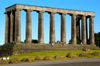 Scotland - Edinburgh: National Monument - the Athens of the north, this replica of the Parthenon waserected on Calton Hill in the 1820's - the money ran out and it was neverfinished but remains part of the skyline to this day - photo by C.McEachern