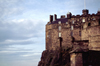 Scotland - Ecosse - Edinburgh: the castle - detail - cliff edge - photo by F.Rigaud