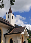 Mahe, Seychelles: Victoria - St Paul's Anglican cathedral - Revolution Avenue - photo by M.Torres