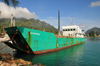 Mahe, Seychelles: Victoria - in the port - small freighter - photo by M.Torres