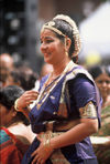 Singapore: lady in Indian dress (photo by S.Lovegrove / Picture Tasmania)