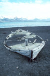 South Shetland islands - Deception island: abandoned whaleboat at whalers bay, aka New Sandefjord - photo by R.Eime