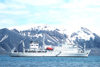 South Shetland islands - Deception island: the Vavilov at anchor in Whalers Bay - Russian icebreaker - photo by R.Eime