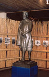 Swaziland - Lobamba: King Sobuza II statue and photo gallery - National Museum - photo by Miguel Torres