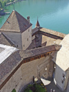 Switzerland - Suisse - Montreux: Chateau de Chillon - from the tower (photo by Christian Roux)