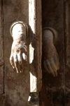 Syria - Damascus: traditional door knocker - old city - photographer: John Wreford