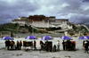 Lhasa, Tibet: Potala Palace - the photographers' stalls - photo by Y.Xu