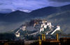 Lhasa, Tibet: Potala Palace and the mountains - photo by Y.Xu