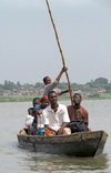 Lake Togo, Togo: canoe ferrying passengers on the lake  - photo by G.Frysinger