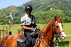 Port of Spain, Trinidad: mounted policeman - photo by E.Petitalot