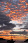Trinidad: sunset in a Caribbean harbour - photo by E.Petitalot