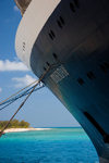 Grand Turk Island, Turks and Caicos: portside view of Holland America cruise ship Prinsendam - photo by D.Smith