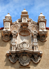 Santa Fé, New Mexico, USA: revival Mudéjar / Moorish façade decoration - Lensic Theater - Santa Fé's Performing Arts Center - designed by the Boller Brothers - photo by M.Torres