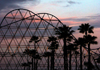 Long Beach (California): sunset at the roller coaster - The Pike - Los Angeles County (photo by G.Friedman)
