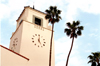 Los Angeles / LAX (California): Union Station - clock tower (photo by G.Friedman)