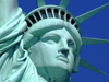 New York, USA: Statue of Liberty - face close up - Unesco world heritage site - photo by M.Bergsma