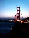 USA - San Francisco (California): night view of Golden Gate bridge  - photo by J.Fekete