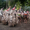 Vanuatu - Dancers, some covered with leaves, Ambrym Island - photo by B.Cain