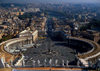 Vatican: St.Peter's Square and Via della Conciliazione to Castel Sant'Angelo - seen from the roof of the Basilca - photo by J.Fekete