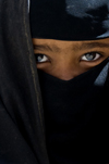 Sana'a / Sanaa, Yemen: close up of girl in Hijab - niqab - photo by J.Pemberton